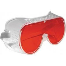 Очки защитные красные для работы с лазерным уровнем, пласт.