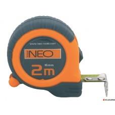 Рулетка 2м/16мм, нейлон, магнит, Neo