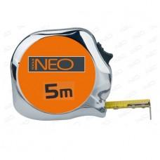 Рулетка 3м/16мм, нейлон, хромированная, Neo