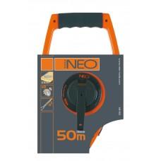 Рулетка 50мx13мм, стальная, нейлоновое покрытие, Neo