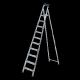 Стремянка стальная RIGGER 10 ступеней ( 271см )