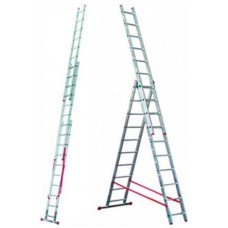 Лестница трехсекционная алюминиевая RIGGER 3x16 (4,43-11,43 м)