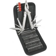 Многофункциональный инструмент с битами, 74 шт, Topex