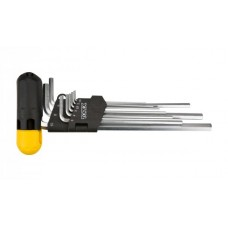 Ключи шестигранные удлиненные1,5-10мм, с Т-ручкой, CrV, Topex