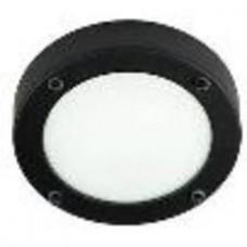 Светильник настенно потолочный галогенный для ванной комнаты. диам 280мм.G9,40W,220V,  IP44, сталь, стекло.