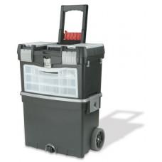 Ящик Master Cart 2-секционный склад. рукоятка, колеса с рез. покр.
